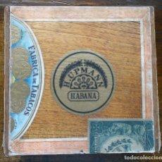 Cajas de Puros: CAJA PUROS FABRICA DE TABACOS DE H. UPMANN MADERA- LA HAVANA, CUBA PRE REVOLUCION. Lote 146274098