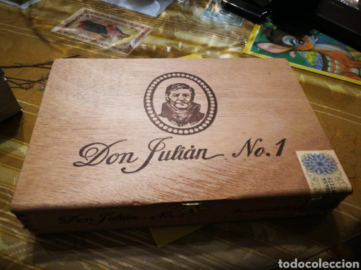 CAJA DE PUROS COMPLETA DON JULIÁN N°1 (Coleccionismo - Objetos para Fumar - Cajas de Puros)