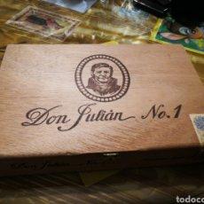 Cajas de Puros: CAJA DE PUROS COMPLETA DON JULIÁN N°1. Lote 146590133