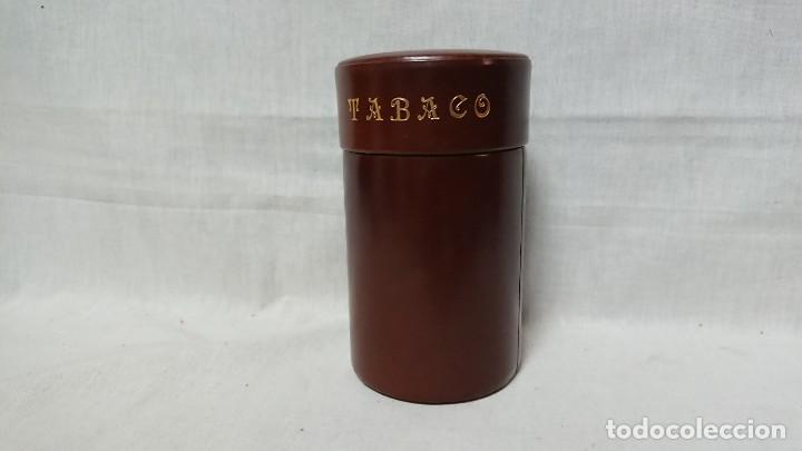 CAJA BOTE PARA GUARDAR TABACO, PUROS..... (Coleccionismo - Objetos para Fumar - Cajas de Puros)