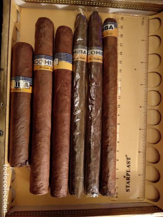 LOTE DE 6 PUROS HABANOS COHIBA HAVANA CUBA HABANA (Coleccionismo - Objetos para Fumar - Cajas de Puros)