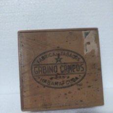 Cajas de Puros: ANTIGUA CAJA DE PUROS VACÍA GABINO CAMPOS. Lote 147109086