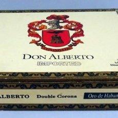 Cajas de Puros: CAJA DE PUROS DON ALBERTO DOUBLE CORONA REPUBLIC DOMINICAN . Lote 147170694