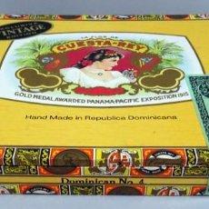 Cajas de Puros: CAJA DE PUROS LA FLOR DE LA CUESTA DEL REY Nº 4 REPÚBLICA DOMINICANA . Lote 147171382