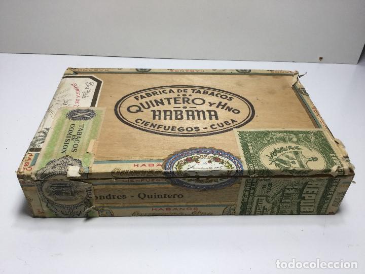 CAJA DE PUROS HABANA CUBA QUINTERO Y HNO ,PUROS VARIOS (Sammelleidenschaft Objekte - Zigarren)