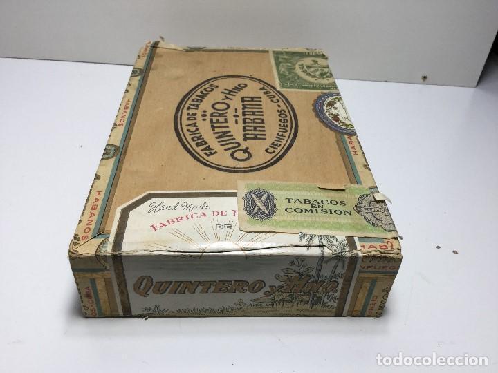 Zigarrenkisten: CAJA DE PUROS HABANA CUBA QUINTERO Y HNO ,PUROS VARIOS - Foto 2 - 147330478