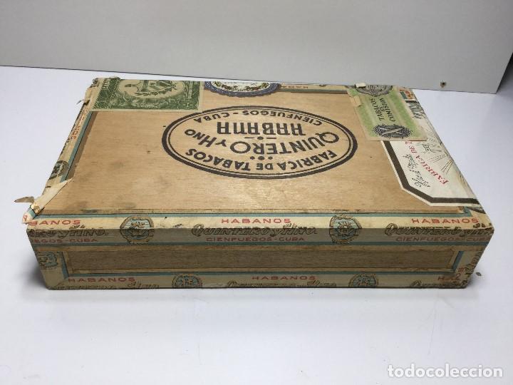 Zigarrenkisten: CAJA DE PUROS HABANA CUBA QUINTERO Y HNO ,PUROS VARIOS - Foto 3 - 147330478