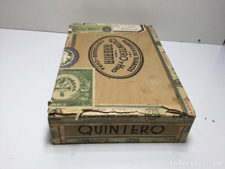 Zigarrenkisten: CAJA DE PUROS HABANA CUBA QUINTERO Y HNO ,PUROS VARIOS - Foto 4 - 147330478