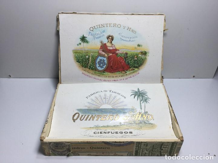 Zigarrenkisten: CAJA DE PUROS HABANA CUBA QUINTERO Y HNO ,PUROS VARIOS - Foto 6 - 147330478