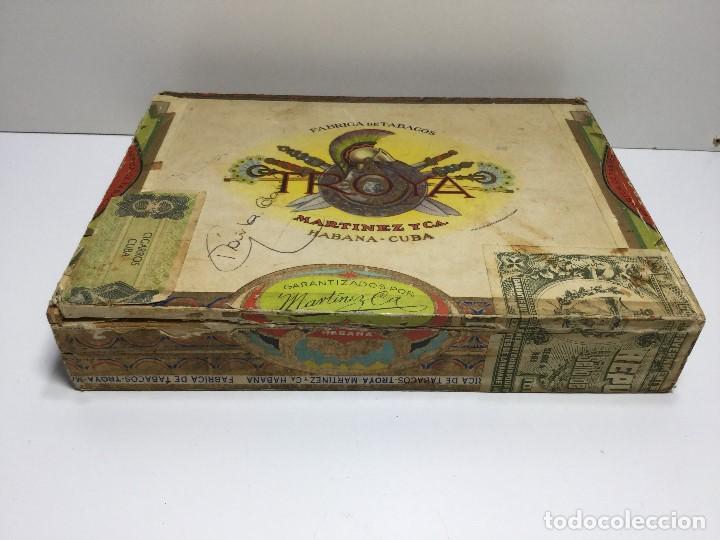 CAJA DE PUROS HABANA CUBA MARTINEZ Y C.A. ,PUROS CORONA CLUB TROYA (Sammelleidenschaft Objekte - Zigarren)