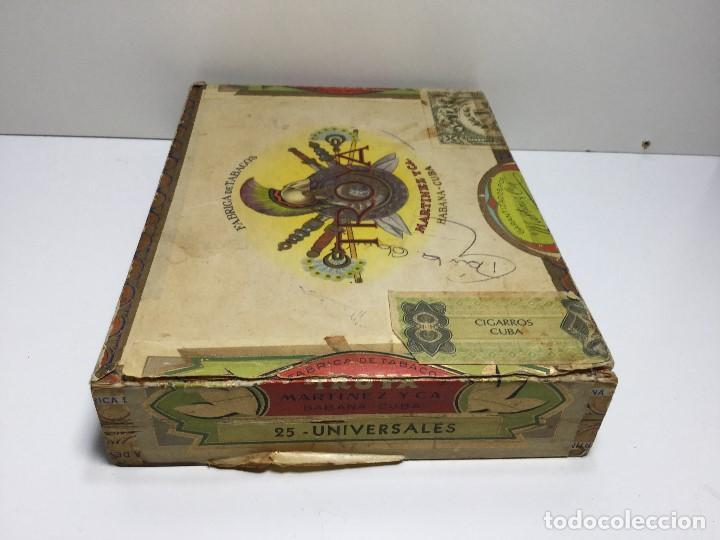 Zigarrenkisten: CAJA DE PUROS HABANA CUBA MARTINEZ Y C.A. ,PUROS CORONA CLUB TROYA - Foto 2 - 147330678