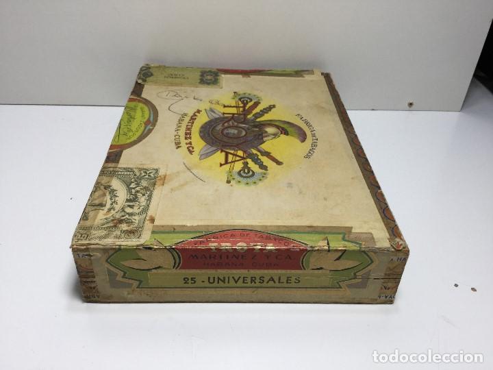 Zigarrenkisten: CAJA DE PUROS HABANA CUBA MARTINEZ Y C.A. ,PUROS CORONA CLUB TROYA - Foto 4 - 147330678