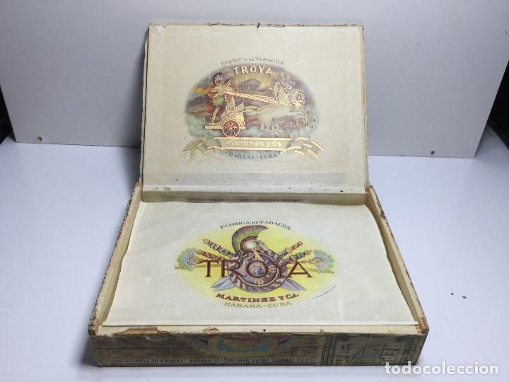 Zigarrenkisten: CAJA DE PUROS HABANA CUBA MARTINEZ Y C.A. ,PUROS CORONA CLUB TROYA - Foto 6 - 147330678