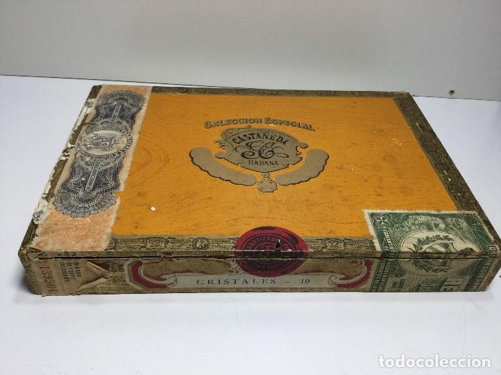 CAJA DE PUROS HABANA CUBA CASTAÑEDA CRISTALES (Sammelleidenschaft Objekte - Zigarren)