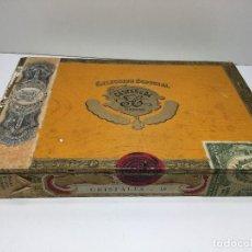 Cajas de Puros: CAJA DE PUROS HABANA CUBA CASTAÑEDA CRISTALES. Lote 147330846