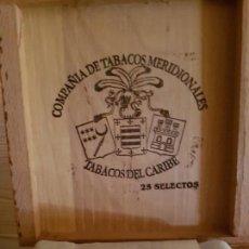 Cajas de Puros: CAJA DE PUROS COMPLETA COMPAÑIA DE TABACOS MERIDIONALES. Lote 147504294