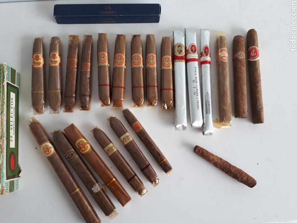 Cajas de Puros: Lote de 23 puros varias marcas, algunos cubanos más caja leer descripción - Foto 2 - 147699113