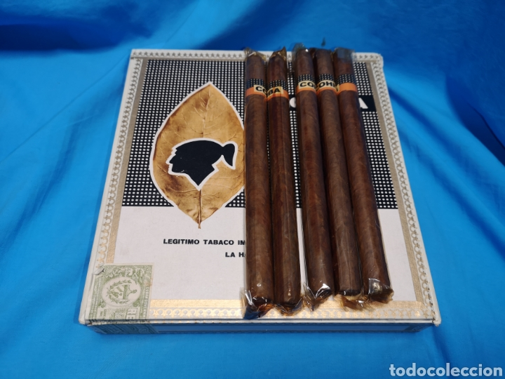 Cajas de Puros: Caja de puros con 5 lanceros cohíba habana Havana habanos Cuba - Foto 2 - 147758946