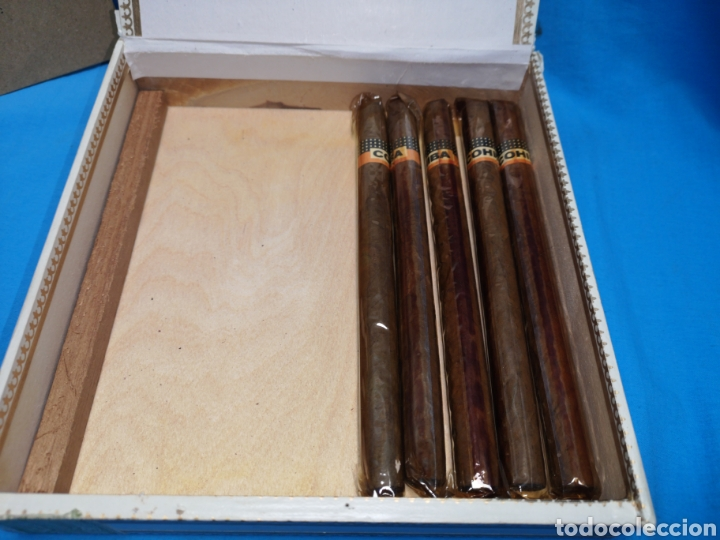 Cajas de Puros: Caja de puros con 5 lanceros cohíba habana Havana habanos Cuba - Foto 5 - 147758946
