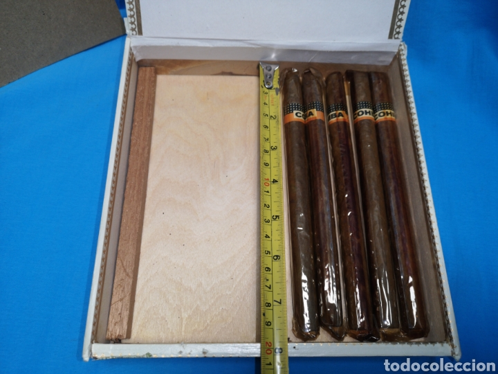Cajas de Puros: Caja de puros con 5 lanceros cohíba habana Havana habanos Cuba - Foto 7 - 147758946