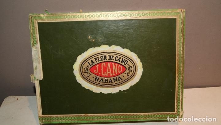 ANTIGUA CAJA DE PUROS LA FLOR DE CANO CON 16 PUROS,BARATA VER FOTOS (Coleccionismo - Objetos para Fumar - Cajas de Puros)