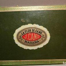 Cajas de Puros: ANTIGUA CAJA DE PUROS LA FLOR DE CANO CON 16 PUROS,BARATA VER FOTOS. Lote 147774790
