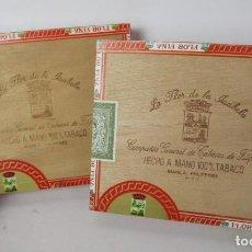 Cajas de Puros: 2X PRECINTADAS! CAJA DE PUROS-LA FLOR DE LA ISABELA -25 CORONAS LARGAS-FILIPINAS ANTIGUA. Lote 147924982