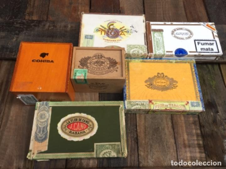 LOTE DE DIFERENTES CAJAS DE PUROS (Coleccionismo - Objetos para Fumar - Cajas de Puros)