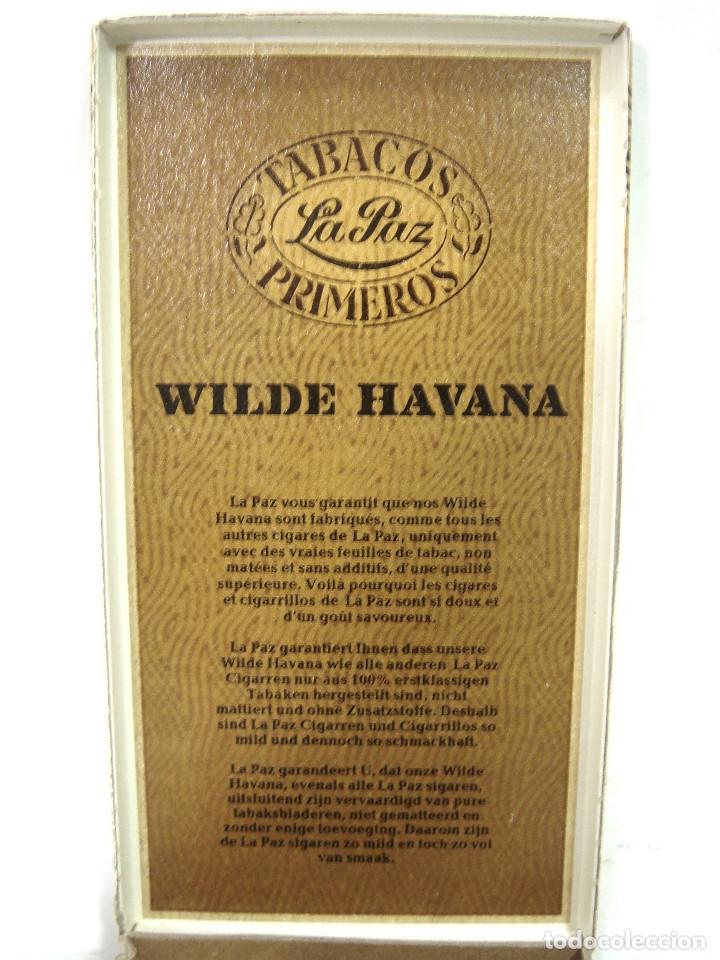 Cajas de Puros: 3X PUROS - WILDE HAVANA TABACOS LA PAZ -PRIMEROS- CAJA PAQUETE PURO TABACO HABANA CIGARROS - Foto 3 - 266645503