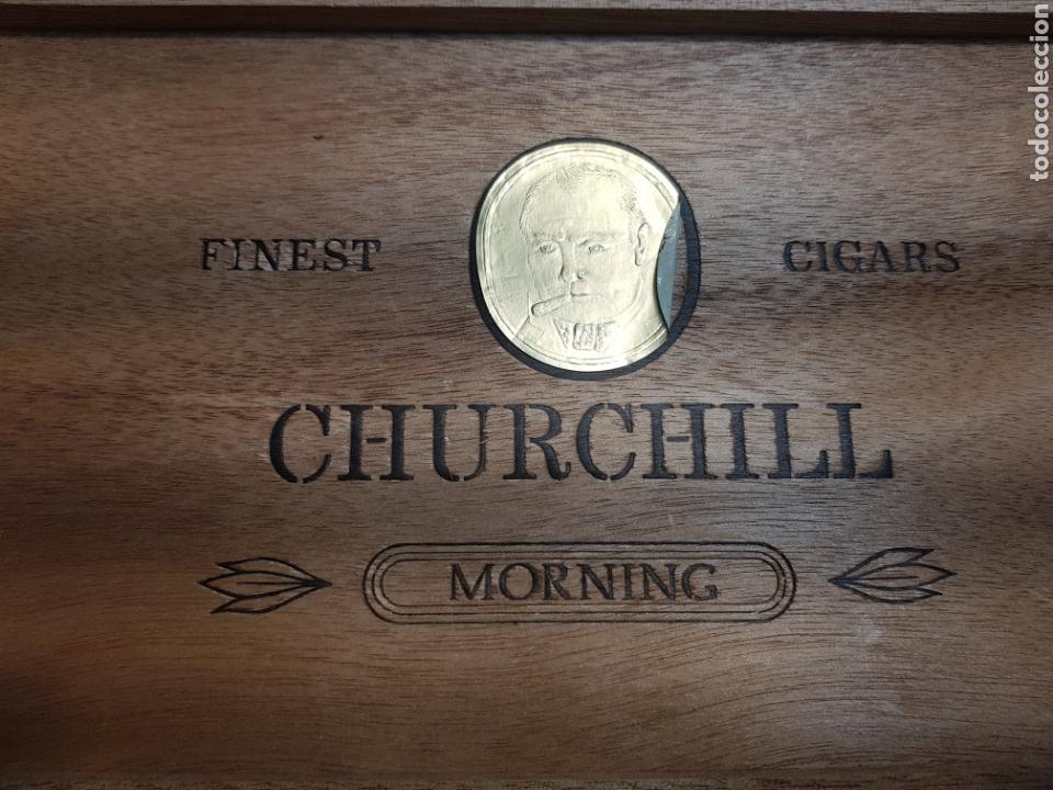 Cajas de Puros: Caja de Puros Churchill con 9 puros distintas marcas - Foto 2 - 148640797