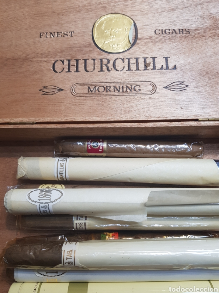 Cajas de Puros: Caja de Puros Churchill con 9 puros distintas marcas - Foto 7 - 148640797