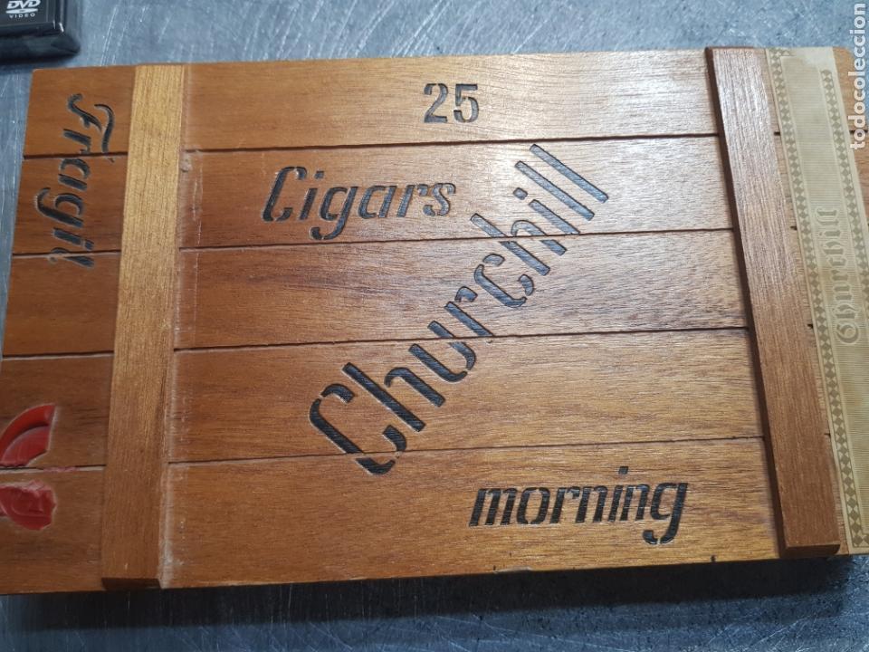 CAJA DE PUROS CHURCHILL CON 9 PUROS DISTINTAS MARCAS (Coleccionismo - Objetos para Fumar - Cajas de Puros)
