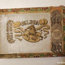 Cajas de Puros: ANTIGUA CAJA VACÍA DE PUROS FLOR FINA BELINDA MADE IN HAVANA. Lote 148667122