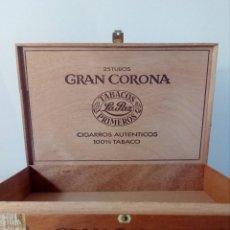 Cajas de Puros: CAJA DE PUROS VACÍA GRAN CORONA -HOLANDA- DE LOS AÑOS 80. Lote 148803850
