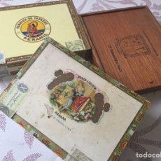 Cajas de Puros: LOTE DE CAJAS DE PUROS VACÍAS ROMEO Y JULIETA, PEÑAMIL Y TABANTILLAS. Lote 149294729