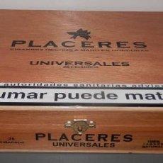 Cajas de Puros: CAJA TABACOS PLACERES. Lote 149532218