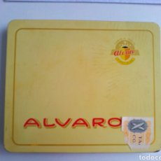 Cajas de Puros: DON ALVARO.CAJA METALICA DE 10 PUROS VACÍA. Lote 149900009