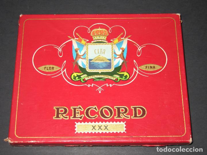 CAJA DE PUROS - C.I.T.A. - RECORD XXX (Coleccionismo - Objetos para Fumar - Cajas de Puros)