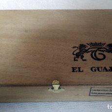 Cajas de Puros: CAJA DE PUROS DE MADERA EL GUAJIRO, 25 Nº 5. ISLAS CANARIAS. (VACÍA).. Lote 150481209