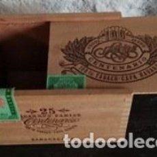 Cajas de Puros: CAJA DE PUROS CENTENARIO. SELLOS FISCALES. Lote 150713497