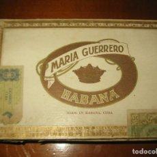 Cajas de Puros: CAJA PUROS MARIA GUERRERO HABANA VACIA. Lote 150939222