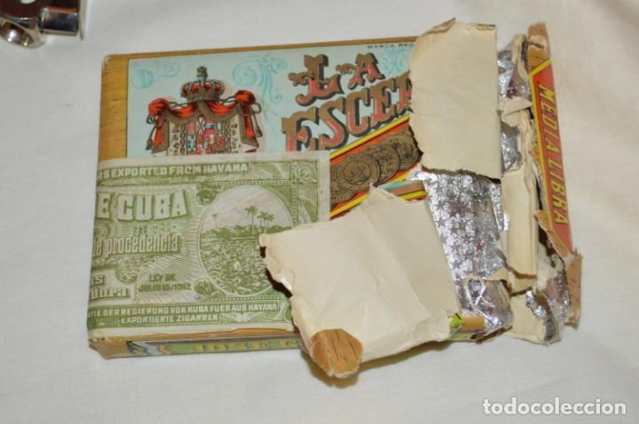 Cajas de Puros: LOTE DE PUROS, PETACA Y CORTAPUROS - COHIBA, MONTECRISTO, VEGA FINA, OTROS... - VINTAGE - ENVÍO 24H - Foto 2 - 151022882