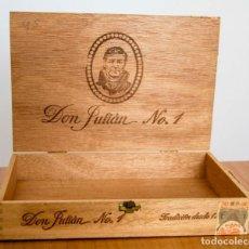 Cajas de Puros: CAJA VACÍA DE MADERA DON JULIÁN Nº1 DE 25 CIGARROS. Lote 185522242