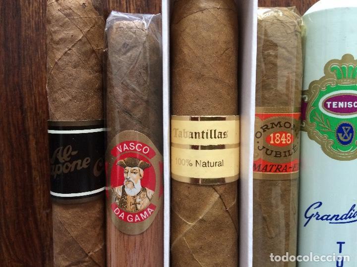 Cajas de Puros: lote 8 puros. AL CAPONE, VASCO DA GAMA, TABANTILLAS, ORMOND JUBILÉ, TENISCA, GLORIA PALMERA. - Foto 3 - 151586938