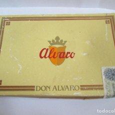 Cajas de Puros: CAJA CARTON DE PUROS ALVARO - CIGARROS 25 DON ALVARO - 22X14X4 - ABIERTA - PUROS PRECINTADOS. Lote 151596398