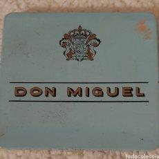 Cajas de Puros: CAJA METÁLICA VACÍA DE PUROS DON MIGUEL 10 MIGUELITOS. Lote 151663428