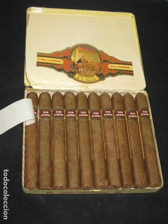 CAJA DE PUROS ALVARO. FABRICA DE TABACOS. ISLAS CANARIAS (Coleccionismo - Objetos para Fumar - Cajas de Puros)