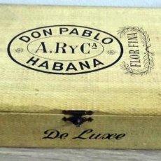 Cajas de Puros: CAJA DE PUROS DON PABLO A.R. Y Cª HABANA (VACÍA). Lote 152192866
