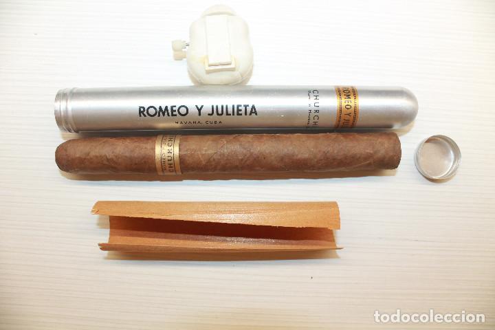 PURO ROMEO Y JULIETA, CHURCHILL, TUBULAR (Coleccionismo - Objetos para Fumar - Cajas de Puros)