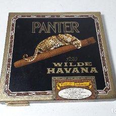 Cajas de Puros: PUROS PANTER 10 WILDE HAVANA , FLOR DE HAVANA , MEDIDA CAJA 13X12,5 . Lote 152436822